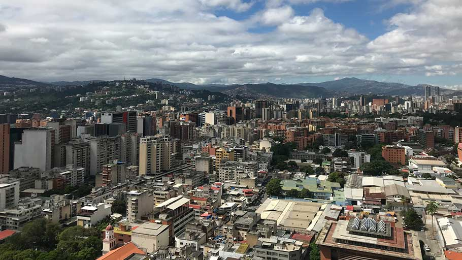 A view west across Caracas, which was once a buzzing metropolis.