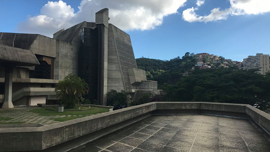 Teresa Carreño, a cultural centre built during Venezuela's 1970s oil boom, has fallen into disrepair.