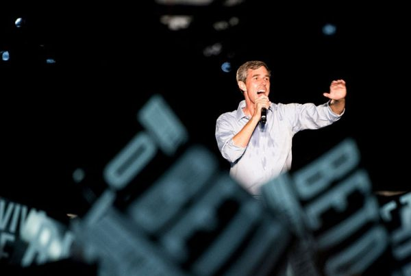 """Democratic candidate for U.S. Senate from Texas Rep. Beto O'Rourke speaks to the crowd at his """"Turn Out for Texas"""" rally, featuring a concert by Wille Nelson, in Austin, Texas, on Sept. 29, 2018."""