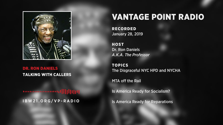 The Professor on the Soap Box on Socialism, Reparations, NYCHA, NY HPD, MTA and More