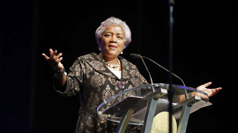 Donna Brazile speaks at the inauguration of New Orleans Mayor Latoya Cantrell in New Orleans on May 7, 2018.