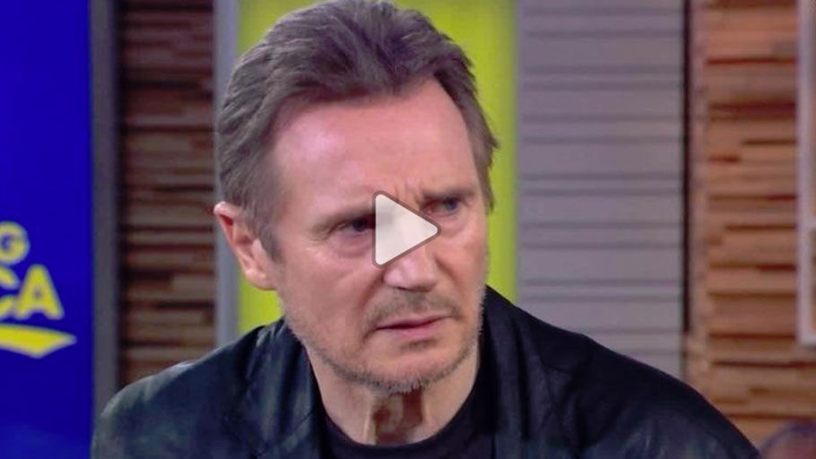 "Liam Neeson appeared on ""Good Morning America"" on Tuesday in the wake of controversy over his saying he contemplated carrying out a racist revenge attack after someone close to him was raped.Source: hln"