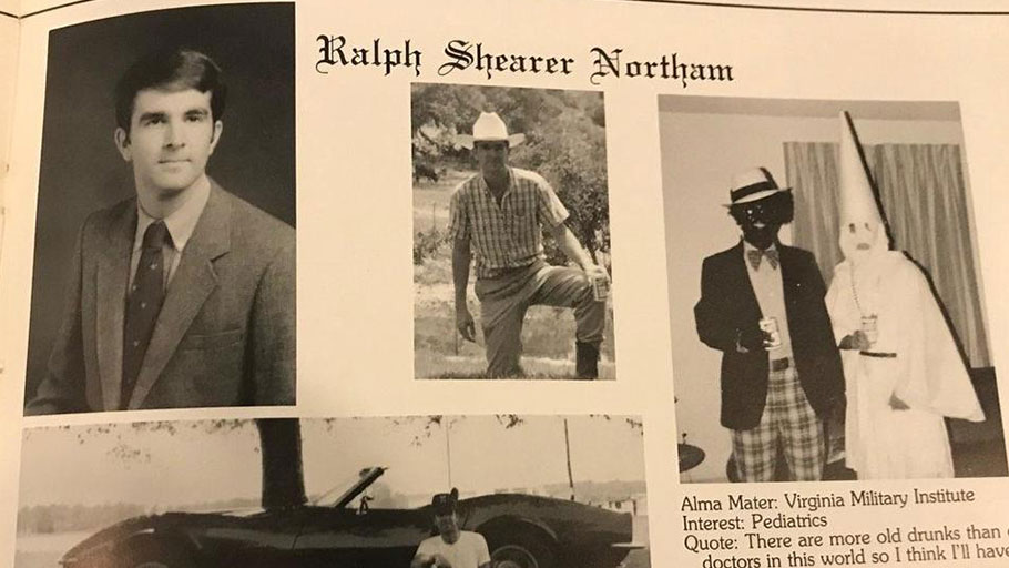 Ralph Northam admits he was in 1984 yearbook photo showing figures in blackface, KKK hood
