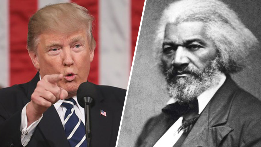 Donald Trump and Frederick Douglass
