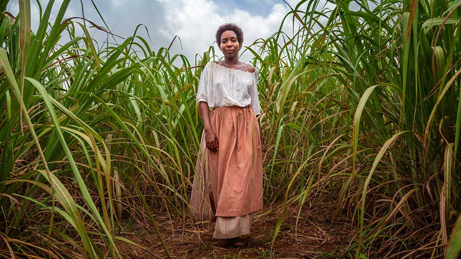 Turbulent history … Tamara Lawrance in the BBC adaptation of Andrea Levy's The Long Song.