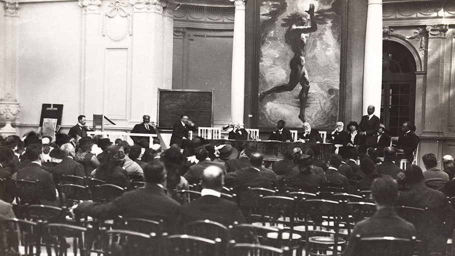 The Second Pan-African Congress, Palais Mondial, Brussels, September 1921.