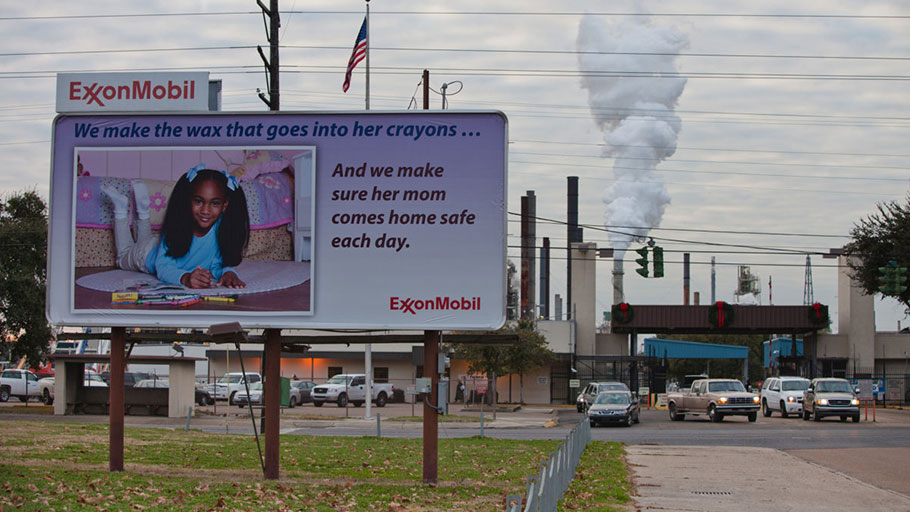 "The ExxonMobil refinery in Baton Rouge, Louisiana, is part of a large concentration of chemical and oil companies known as ""Cancer Alley."" A new report finds that the fossil fuel industry is denying the reality of air and water pollution, or even shifting the blame for this pollution to those disadvantaged communities who are suffering the impacts of the industry's projects."