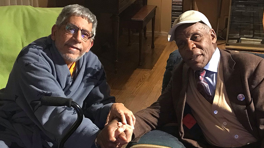 Danny Glover's visits with Don Rojas at his Maryland Home. February 6, 2019
