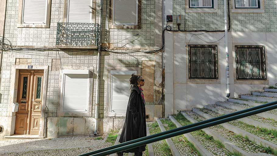 Gilmore in Lisbon, Portugal, where she lives for part of the year.
