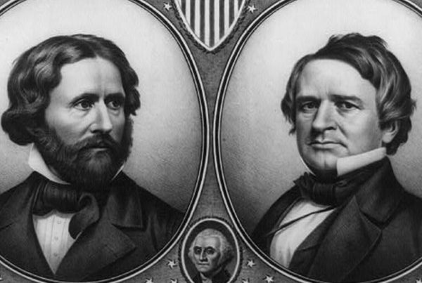Campaign poster of 1856 Republican Candidates for President and Vice President John C. Frémont and William D. Dayton. US Senate