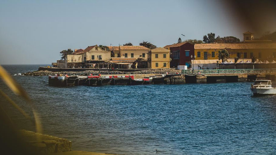 The main port on the island of Goree a major point of embarkation during the slave trade.