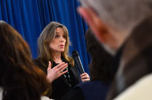 Marianne Williamson, a Democrat from Iowa and presidential candidate, tells campaign audiences how Germany has paid over $89 billion in reparations to Jewish victims of Nazi crimes, and how the U.S. government paid reparations to Japanese Americans interned during World War II.
