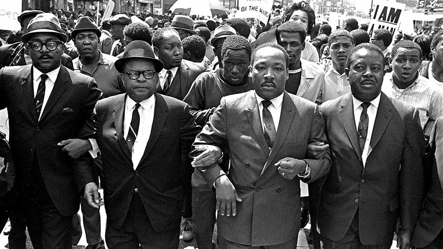 Martin Luther King Jr. in Memphis, Tennessee, 1968