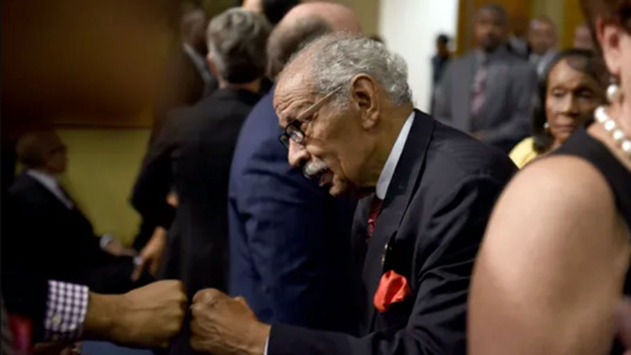 Presidential race revives Conyers' push for reparations