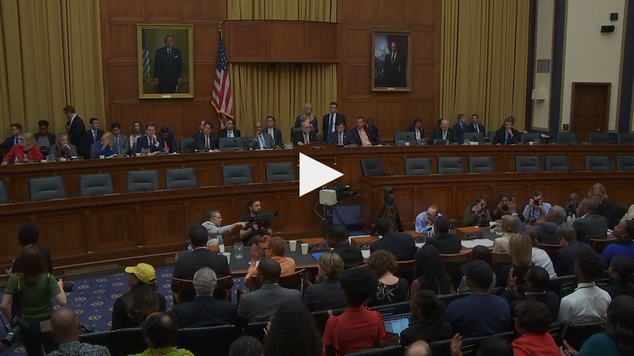 Congressional Hearing on H.R. 40, Legislation to Study Slavery Reparations. Washington, DC — On June 19, 2019 (Juneteenth)