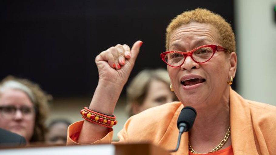 Dr. Julianne Malveaux testifies about reparations during a hearing before the House Judiciary Subcommittee on the Constitution, Civil Rights and Civil Liberties, in Washington, D.C. on June 19, 2019.