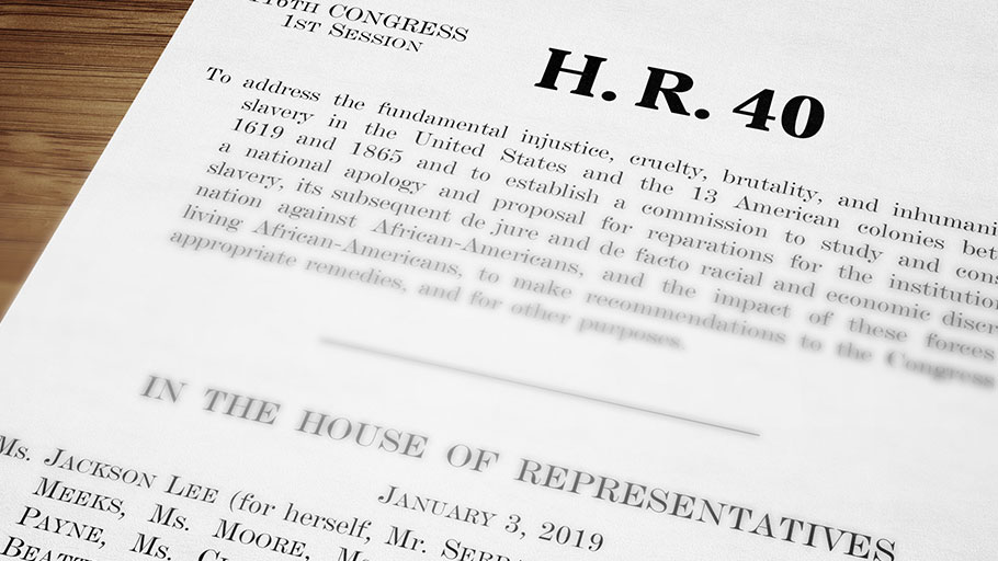 H.R.40 - Commission to Study and Develop Reparation Proposals for African-Americans Act