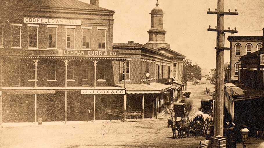 The Lehman Durr & Co. offices in Montgomery, Alabama, 1874