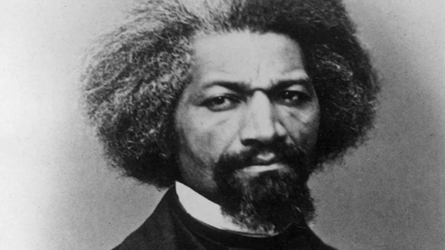 American abolitionist Frederick Douglass, circa 1855.