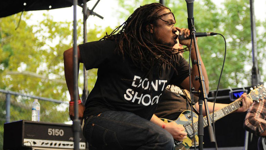 "Maurice ""Moe"" Mitchell performs at the 2014 Afropunk Fest in Brooklyn."