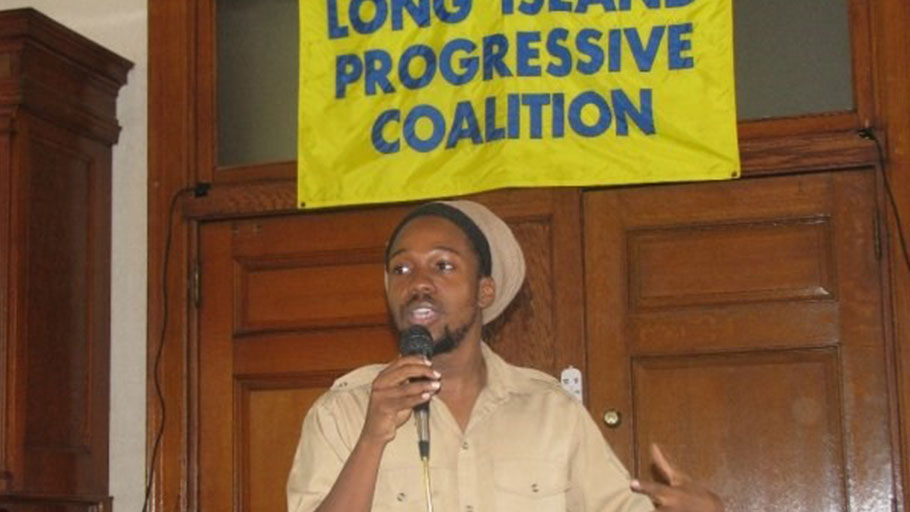 Mitchell speaks at the Long Island Progressive Coalition in Brentwood, New York, in July 2005.