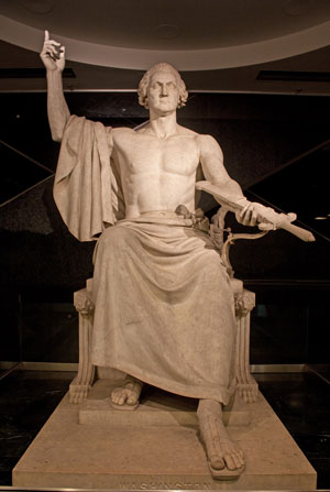 Statue of George Washington by Horatio Greenough in the Smithsonian's National Museum of American History, Washington, D.C.