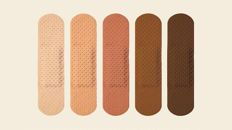 Skin tone band-aids
