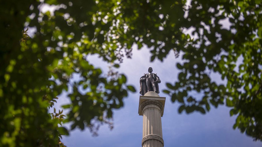A statue of former Vice President John C. Calhoun in Charleston, S.C. His views helped inspire the Southern secessionist movement.