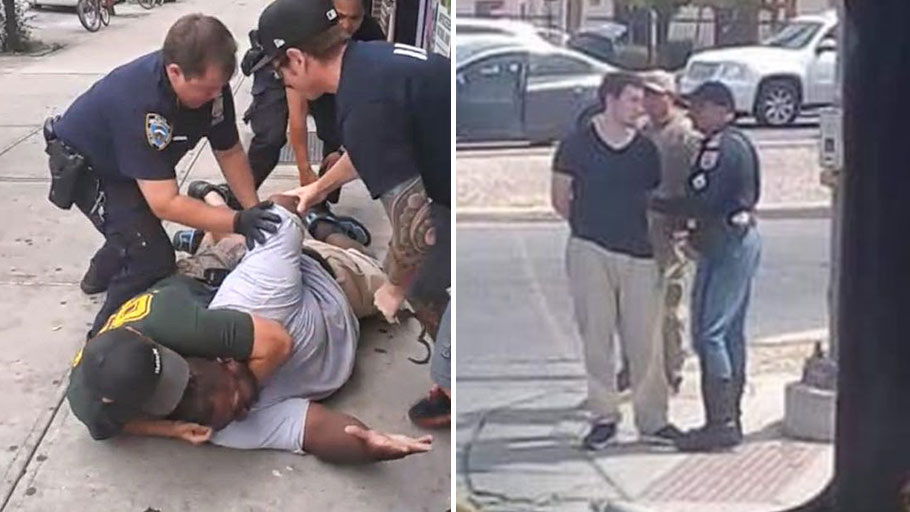Eric Garner on left, Patrick Crusius, the El Paso shooter on the right.