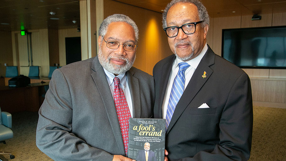 Dr. Lonnie Bunch III and Dr. Benjamin F. Chavis, Jr.
