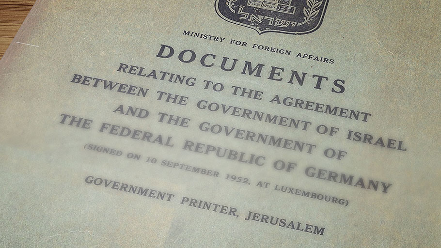 The Reparations Agreement of 1952 and the response in Israel