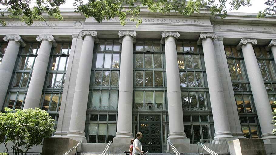 Harvard Law School in Massachusetts.