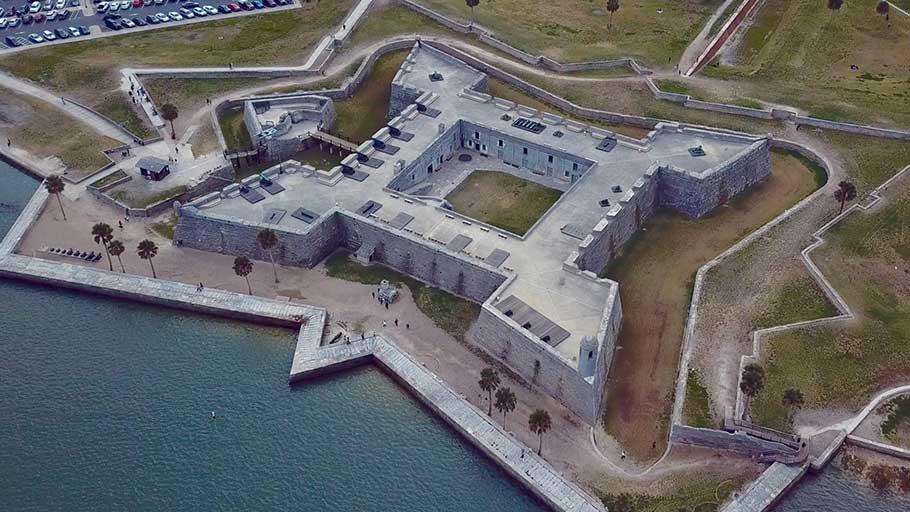 Castillo de San Marcos fort in Florida.