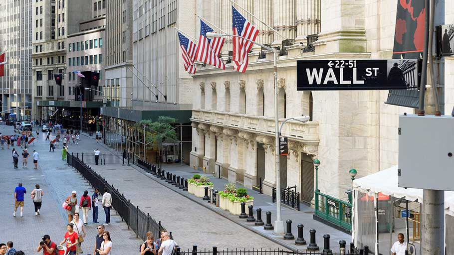 Wall Street in New York.