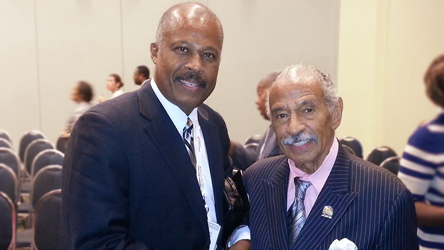 Sir Hilary Beckles and Cong. John Conyers