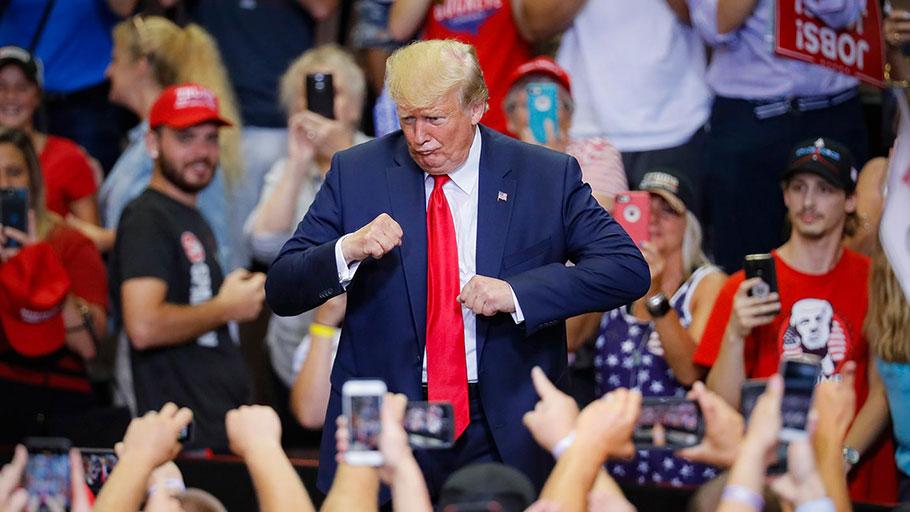 Donald Trump at a campaign rally in Cincinnati in August.