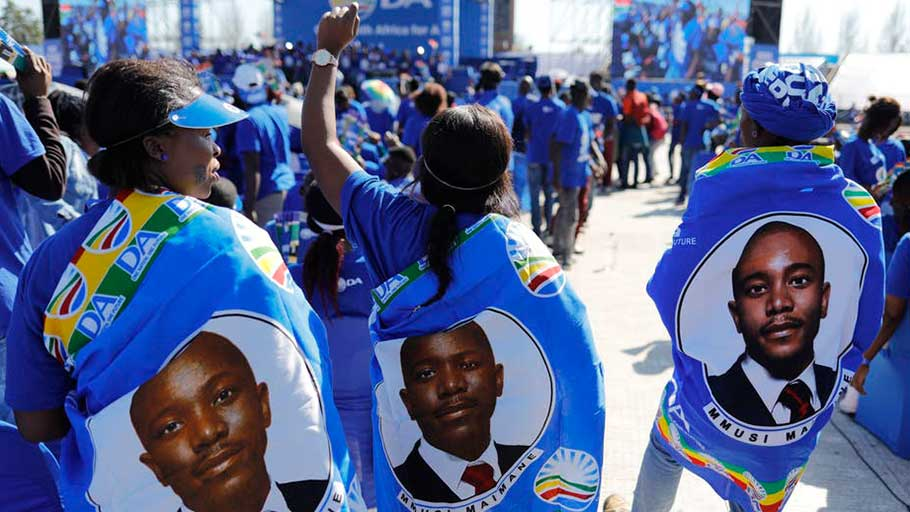 Supporters of the Democratic Alliance in South Africa