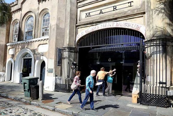 Old Slave Mart on Chalmers Street in downtown Charleston.