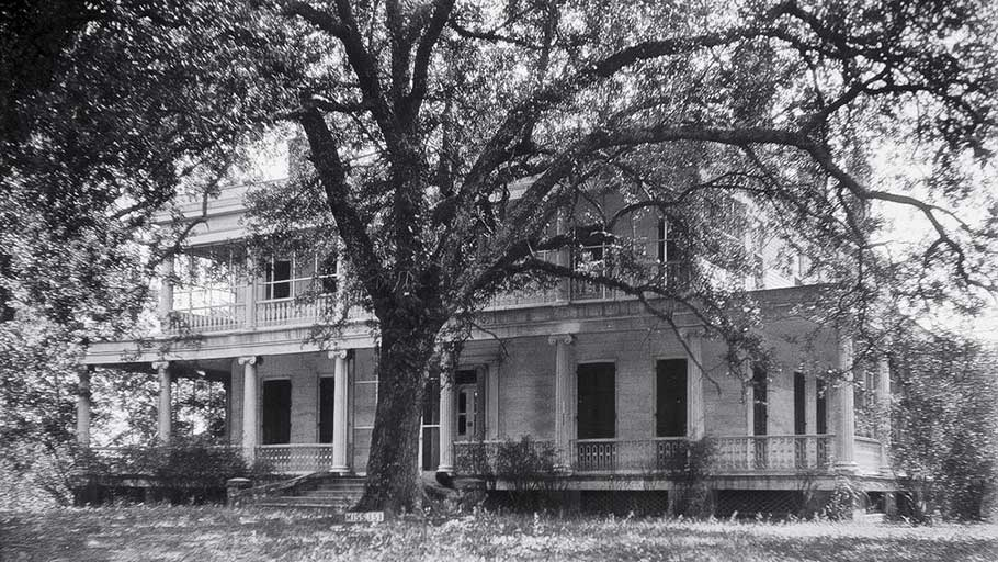 Brandon Hall, where Wood toiled as a slave in the 1850s, as it looked in 1936.