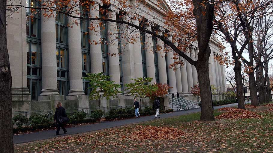 In this Nov. 19, 2002, photo, students walk through the Harvard Law School area on the campus of Harvard University in Cambridge, Mass.