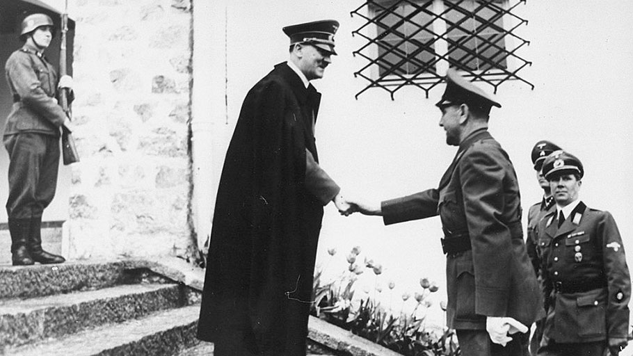 German Fuhrer Adolph Hitler meets Ustashe founder Ante Pavelić in 1941