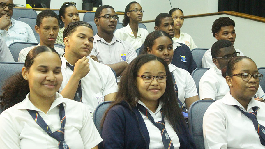 Trinidadian High School Students at an engagement at UWI St. Augustine on Capitalism and Slavery