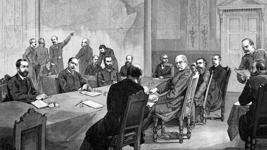 The conference of Berlin,