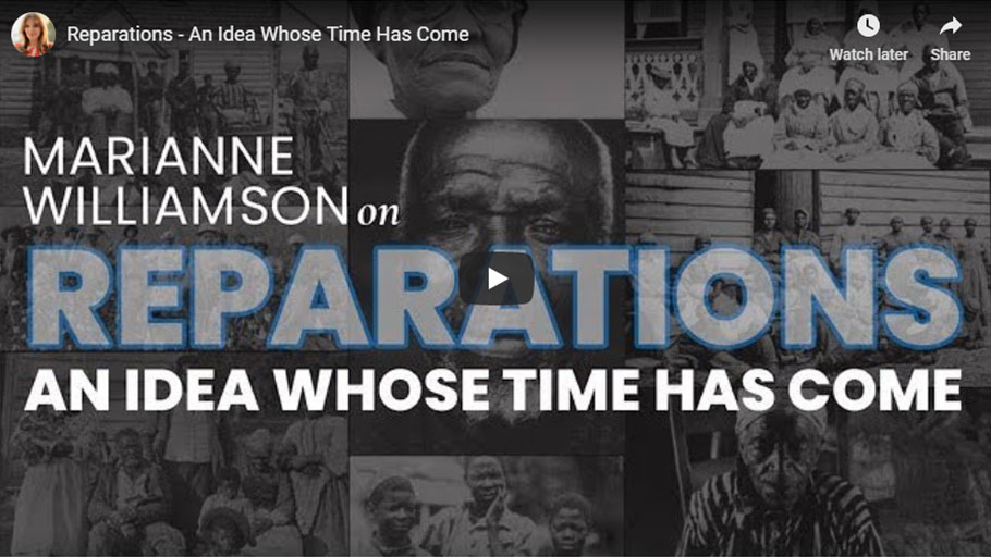 Williamson focuses on reparations in first ad of presidential campaign