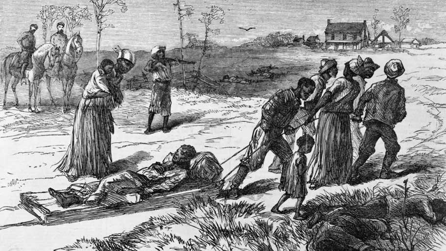 """Colfax Massacre"" in Louisiana."