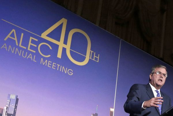 Jeb Bush speaks at a 2013 American Legislative Exchange Council meeting.