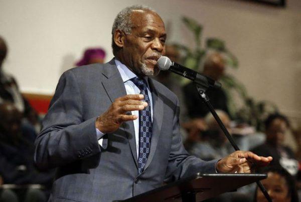 Danny Glover speaks at Evanston Reparations Town Hall Meeting.