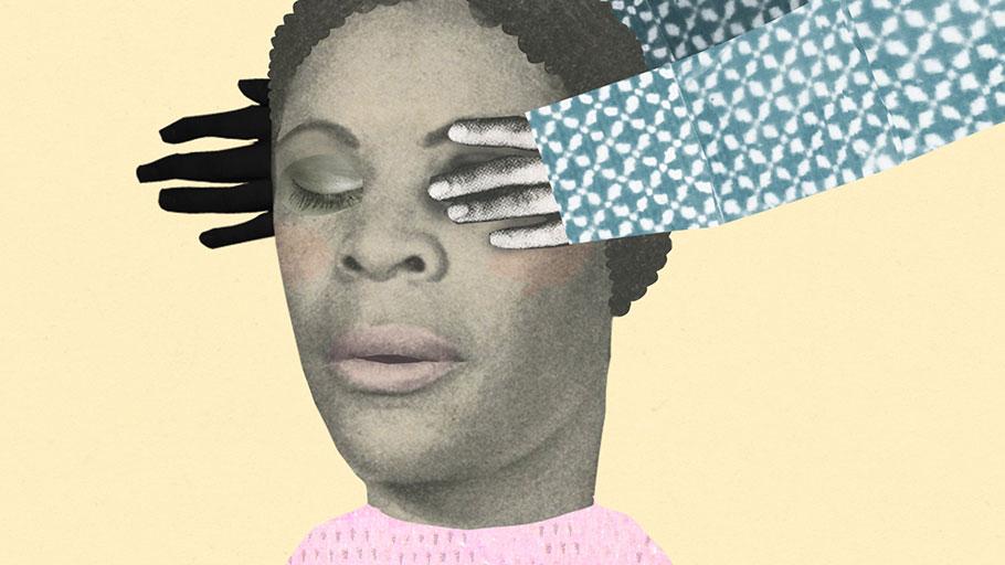 How disinformation campaigns suppress the Black vote. Illustration by Katherine Streeter