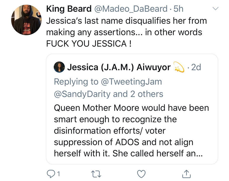 ADOS attacking Jessica Ann Mitchell
