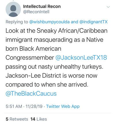 ADOS Attacking Sheila Jackson Lee